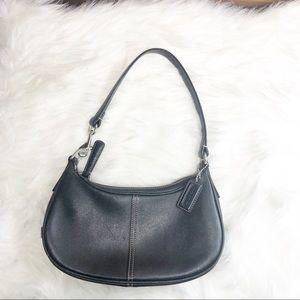 Coach Black Leather Demi Hobo Shoulder Bag